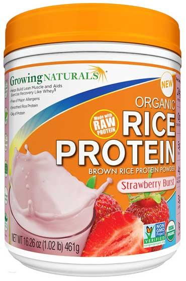 Rice Protein Isolate Powder Strawberry Burst