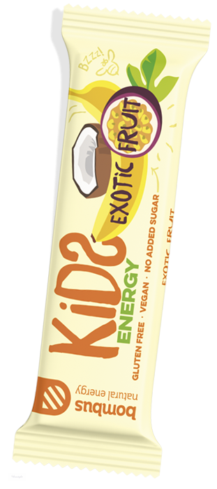 Tyčinka Bombus kids exotic fruit 40g vegan