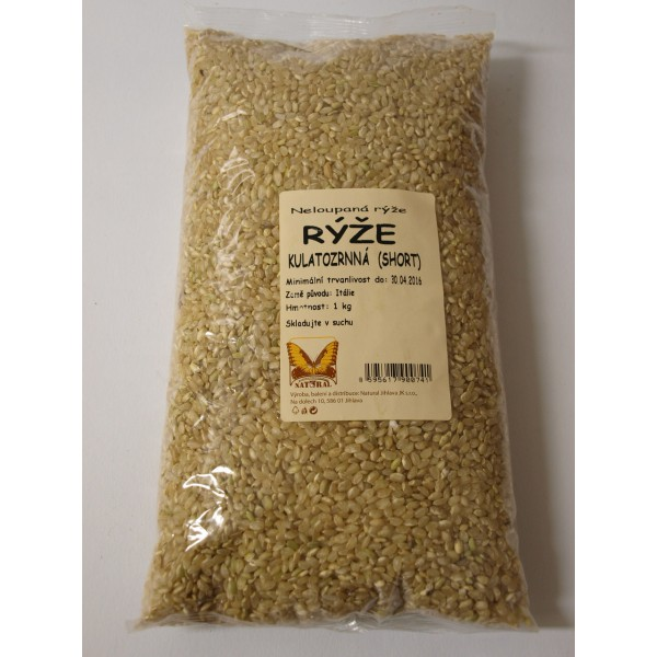 Rýže kulatozrnná SHORT 1kg Natural