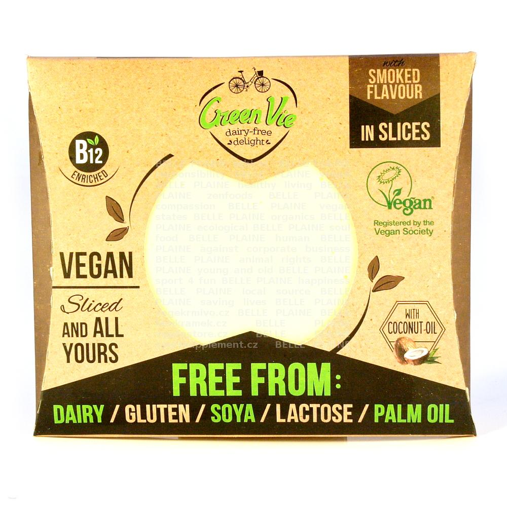 Veganská alternativa sýru gouda plátky 180g GreenVie