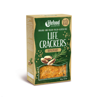 LIFE CRACKERS Rozmarýnové BIO RAW 90 g Lifefood