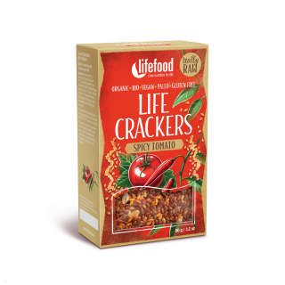 LIFE CRACKERS Mexické BIO RAW 90 g LIFEFOOD
