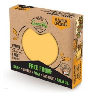 Veganská alternativa sýru cheddar blok 250 g GreenVie