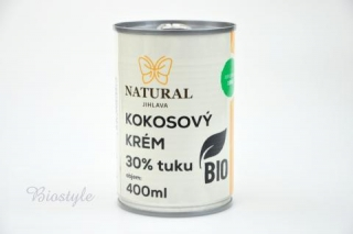 Kokosový krém BIO 30% tuku - Natural 400ml